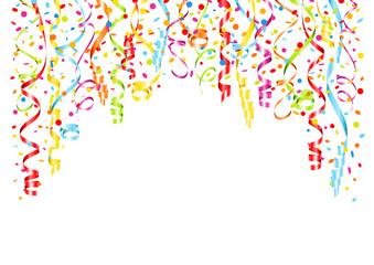 A4 Background Streamers & Confetti