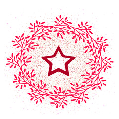 Vector star icon in frame isolated. Idea icons for social media and website
