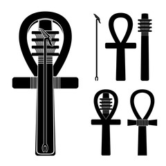 Set of ancient egypt silhouettes