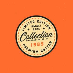Retro clothing mark, clothing tag, stamp. Exclusive vintage logo