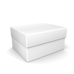 3d white cardboard box
