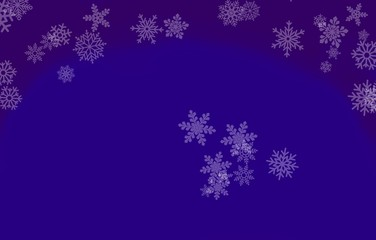 Greeting card for Christmas with snowflakes