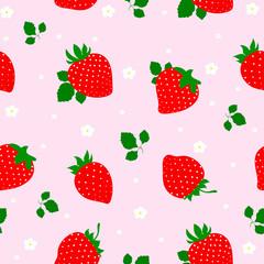 Seamless vector strawberry fruit pattern. illustration.