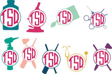Doctor Tools Logo,Doctor  Monogram Logo,Doctor  Circle Frames,Doctor  Cuttable Design,Doctor  Cut files,Doctor  Silhouette Studio, Silhouette files, Cricut files, Vector, Logo, Circle Frame Design, Ep