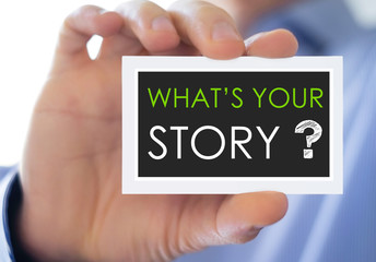 What is your story - business card concept