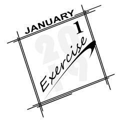 2019 new years resolution is EXERCISE!