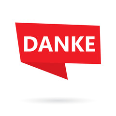 danke word (thank you in german) on a speach bubble- vector illustration