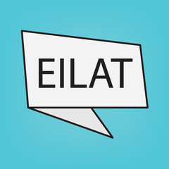 Eilat word on a sticker- vector illustration