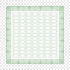 Frame, background. Template. Certificate, diploma. Guilloche. Abstract. On a transparent background.