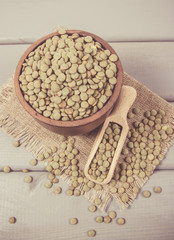 Green lentils - a vegetable source of protein.