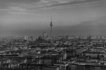 Berlin,  above the rooftops of Berlin, panoramic view