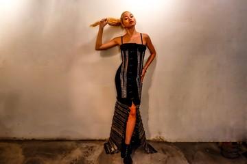 Rocker chick. Pin Dress.
