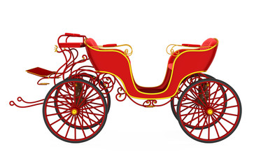 Horse Drawn Carriage Isolated