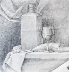 classic drawing still-life pencil art