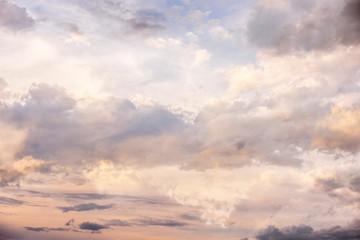 sunset sky with dark clouds close up - texture