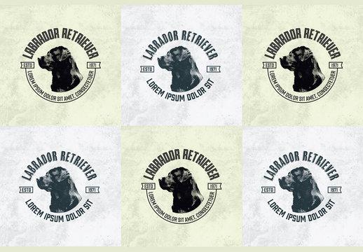 Dog Logo Badges Layout
