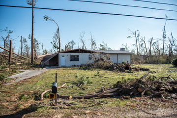 Hurricane Michael Devastation in the Panhandle of Florida