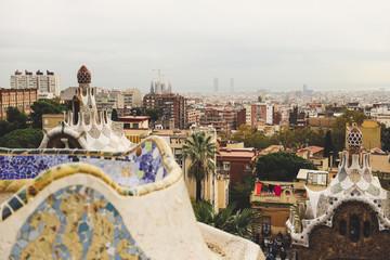 Tuinposter Barcelona Aerial view of Barcelona Spain, Barcelona