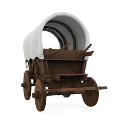 Covered Wagon Isolated