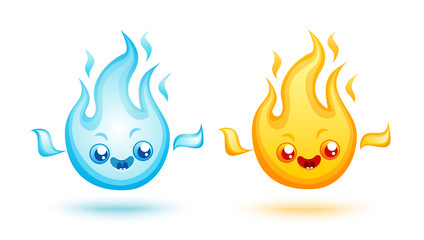 Vector set fire icons