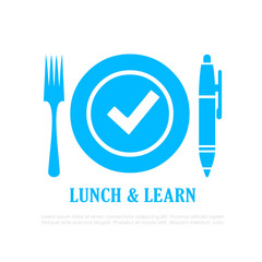 Lunch and learn vector icon