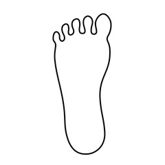 Human foot outline vector icon