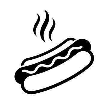 Hot dog sandwich vector icon
