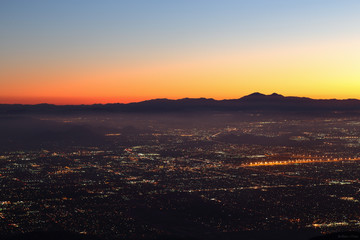 Night falls on San Bernardino county