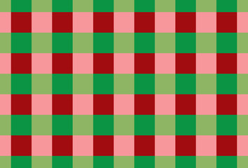 Tablecloth gingham pattern for plaid,background,tablecloths for textile articles,red and green cell,vector illustration.