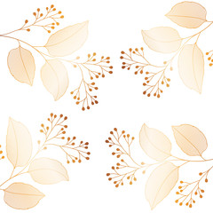 flowers with branches and leaves icon