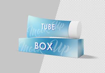 Tube and Box Packaging Mockup