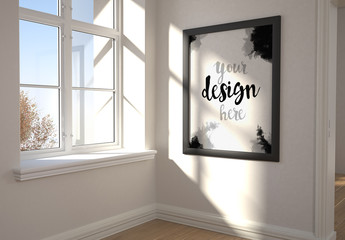 Large Frame and Sunny Window Mockup