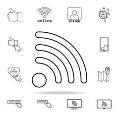 wifi signal icon. sosial media network icons universal set for web and mobile