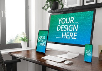 Multi-device Home Office Mockup