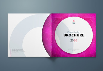 Square Cover Layout with Circle Elements