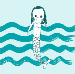 cute baby mermaid