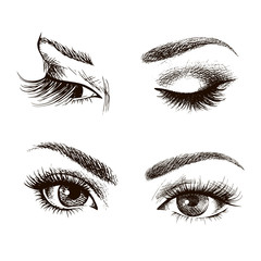 Female eye set