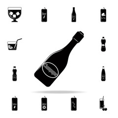 a bottle of champagne icon. Drink icons universal set for web and mobile