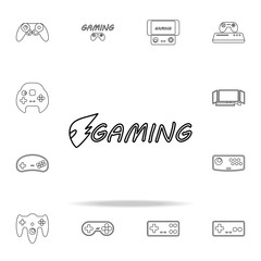 logo games icon. gaming icons universal set for web and mobile