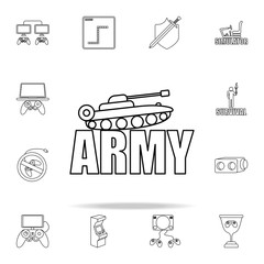 logo army games icon. gaming icons universal set for web and mobile