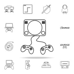 video attachment icon. gaming icons universal set for web and mobile