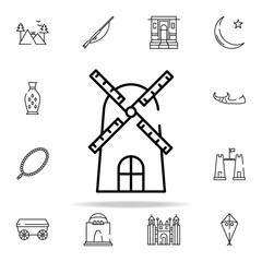 airflow icon. pakistan culture and landmarks icons universal set for web and mobile