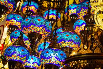 Photo sur Plexiglas Vitrail Turkish lamps in grand bazar, Istanbul, Turkey
