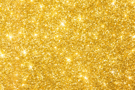 Golden Glitter Background With Sparkles