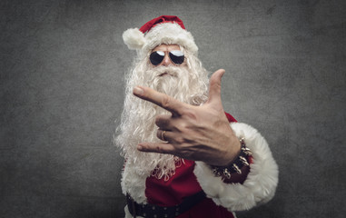 Cool rock Santa Claus