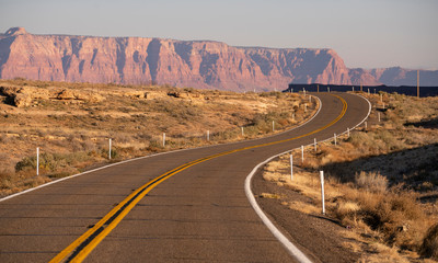 Curvy Two Lane Road Highway Biway Desert Southwest United States