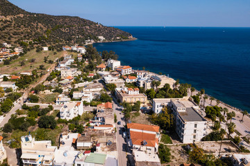 Methana coastline in Aegean sea, Greece.