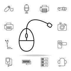 mouse outline icon. Technology icons universal set for web and mobile