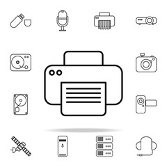 Printer outline icon. Technology icons universal set for web and mobile