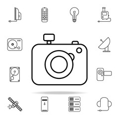 camera outline icon. Technology icons universal set for web and mobile